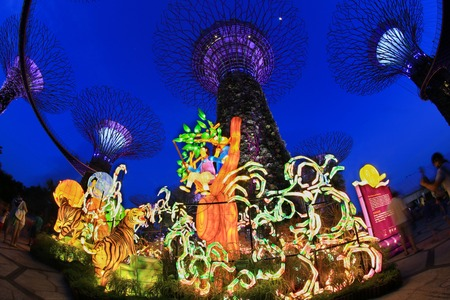 Singapore, September 10, Gardens by the bay Mid-Autumn festival (Lantern Festival) Light up with big lantern between 3 to 18 September 2016. Editorial