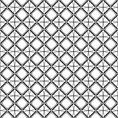 Seamless black and white pattern. Made in vector. Geometric pattern.