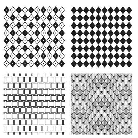 Seamless patterns. Made in vector. Rhombic pattern for background.