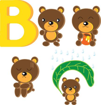 Action of cute B-Bear.