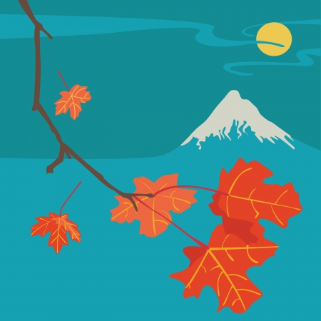 Mountain Fuji Autumn Night