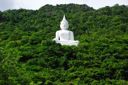 god figure: A statue of a Buddha in Thailand. Stock Photo