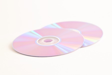 CD  DVD on white background photo