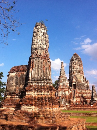 architecture: Wat Chai Watthanaram in Ayutthaya, Thailand Stock Photo