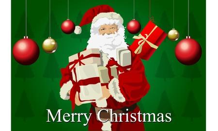 Merry Christmas Santa Vector