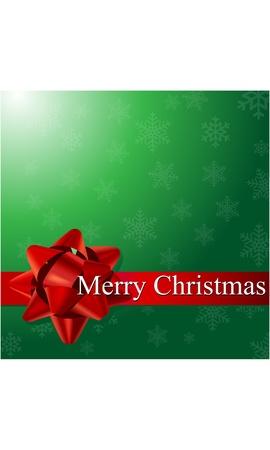 salutation: Merry Christmas Card  Illustration