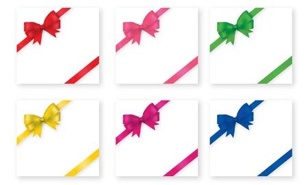 ribbin: bow ribbin with gift box Illustration