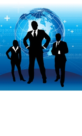 supervisor: business team work with the earth high technology Illustration