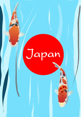 carp fish Japan Symbolic Vector