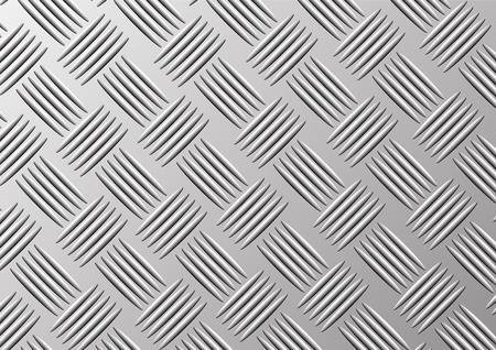 polished floor: Metal plate for floor pattern background Illustration