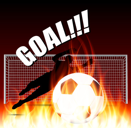 goal keeper: goal keeper save the fire ball
