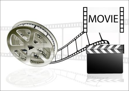 ilm movies cinema on white background