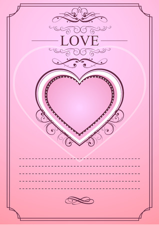 engagement: love template card