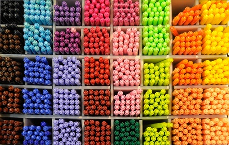 Lots of Assorted Colors Marker Pens photo