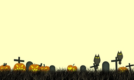 Grunge textured Halloween night background with fabric recycle  photo