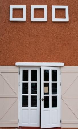residential idyll: Stock Photo: beautiful vintage door