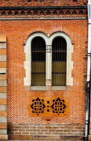 church window: Church Antique Leaded Window Stock Photo