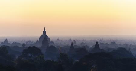 fascinate: temples in Bagan, Myanmar on morning.