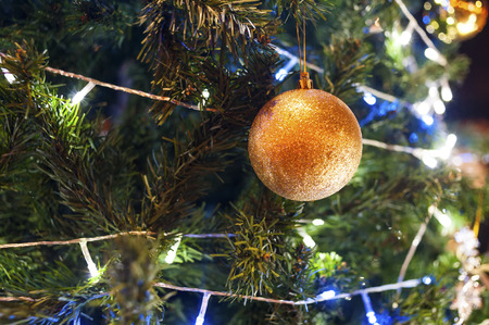 suddenness: Christmas toys on a Christmas tree, New year 2016