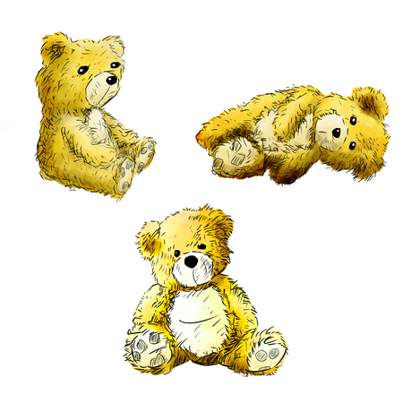 illustration of Happy bear in white background.