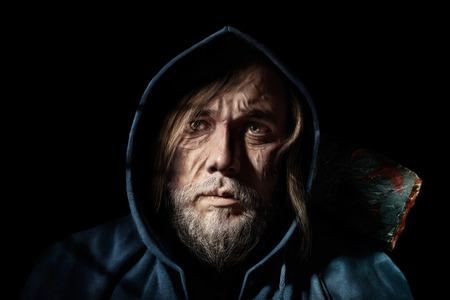 doomed: Portrait of an old man Stock Photo
