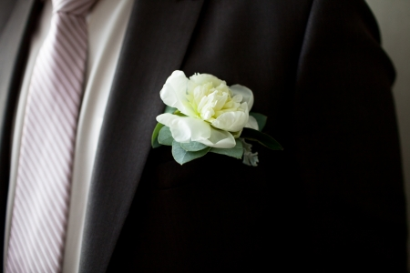 boutonniere: Wedding Boutonniere On Suit Jacket