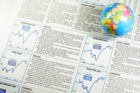 Stock market and news on different countries Stock Photo - 5690997
