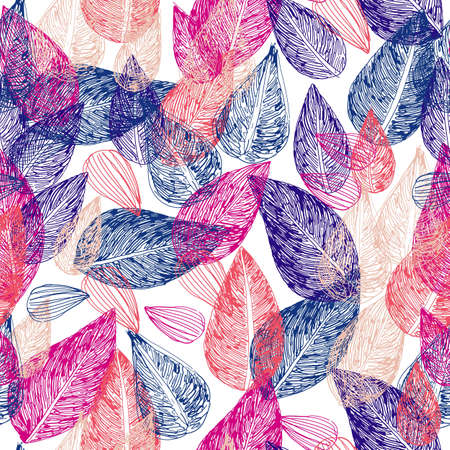 swirl floral: A seamless pattern with floral elements
