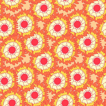 A seamless pattern with floral elements Stock Vector - 14266113