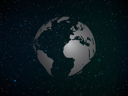 starfield: Realistic Vector illustration of starfield.