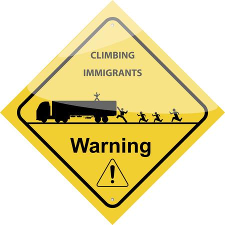 road warning sign: Detallada Carretera se�al de peligro, vector aislado en el fondo blanco.