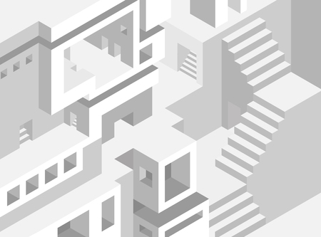 grey scale: Abstract architecture background