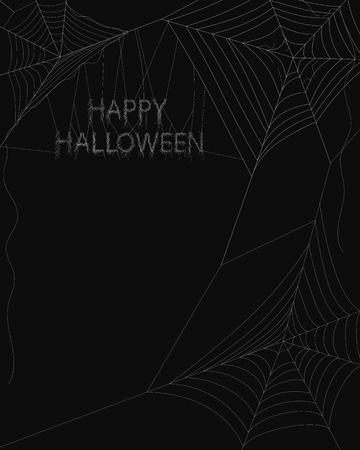spider web: Spider web on dark background