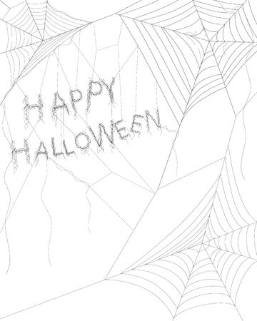 spider web: Spider web on white for Halloween