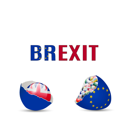 United Kingdom Brexit Cracked eggs