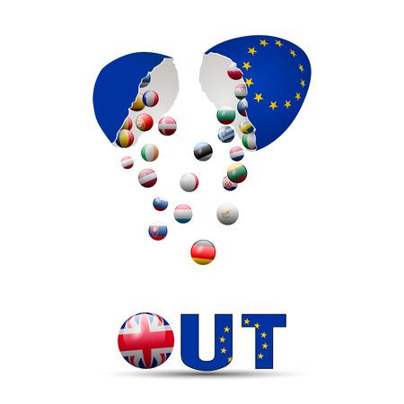 kingdom: United Kingdom Brexit Cracked eggs