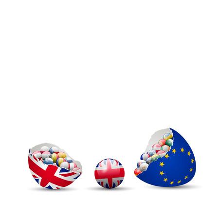 イギリス Brexit ひびが入った卵