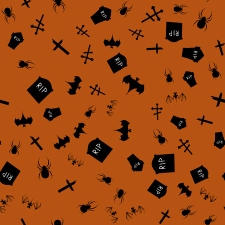 Halloween seamless patterns. Vector illustration