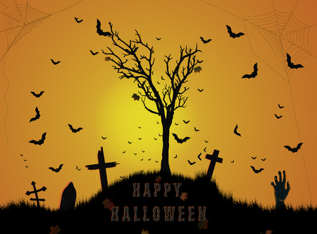 Halloween cemetery background