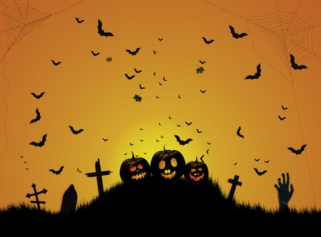 Halloween cemetery background Banco de Imagens - 108918613
