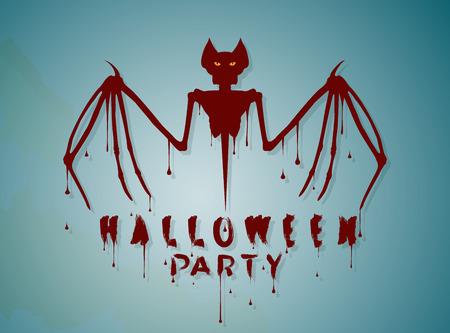 Bat skeleton vector illustration Ilustração