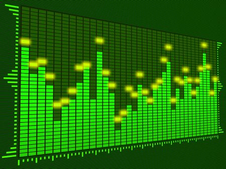 Equalizer Digital (Dark Green) Stock Photo - 442817