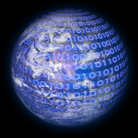 Binary Code Planet Earth Stock Photo - 449434