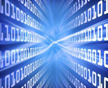 Binary Code Blue Energy photo