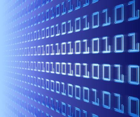 Wall Of Binary Code Stock Photo - 450409