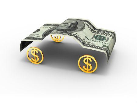 car bills: Car Dollar Stock Photo