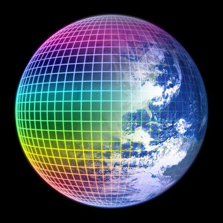 heaven on earth: Earth Globe Color Frame