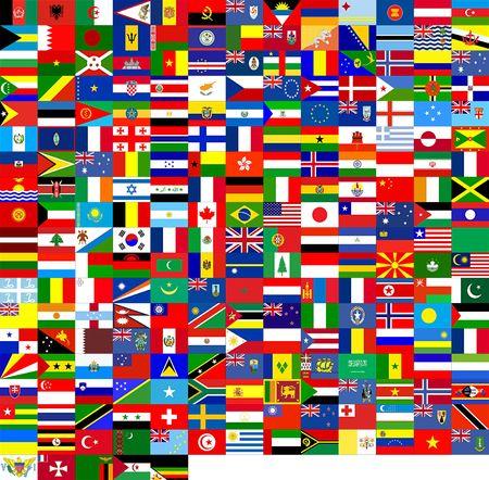 Banderas Del Mundo (240 Banderas) Foto de archivo - 452516