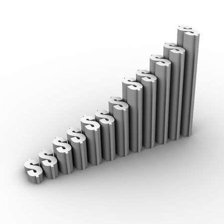 rise: Graph Growth Stock Photo