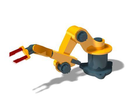 manipulator: Robot (pose 1) Stock Photo